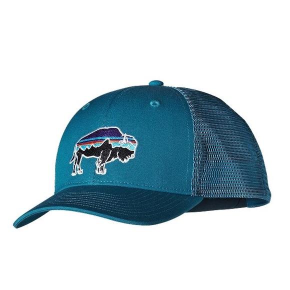 f13a60a41 NWT Patagonia buffalo blue trucker hat NWT